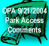 Park Access Comments
