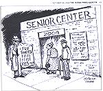 Jim Adcock's cartoon about the flu shot shortage. From the Octover 20, 2004 edition of the Ocean Pines Gazette.