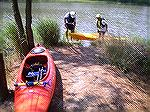 Launching kayaks into Manklin Creek near Boston Drive in Ocean Pines.