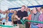 OPA Director Reid Sterrett cuts the ribbon at the Ocean Pines indoor pool grand opening in 2007.
