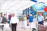 Scene at the Ocean Pines indoor pool grand opening in 2007. Barbara Kissel in foreground, left; Bob Lassahn on right.