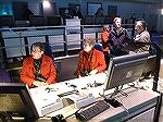 Jeanette Reynolds (right) and Kathy Schneider (left) sit at command center during Wallops Island Rocket Launching trip