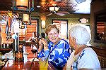 Jeanette Reynolds and friend enjoy a drink at the Sunset Bar Grille.