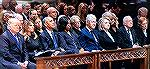 Bush Funeral. Front row.